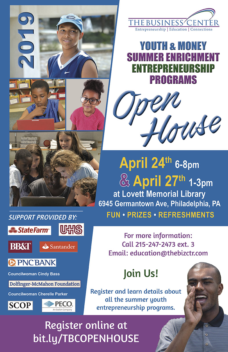 Youth & Money Open House