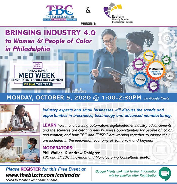 Bringing Industry 4.0 to Women & People of Color of Philadelphia