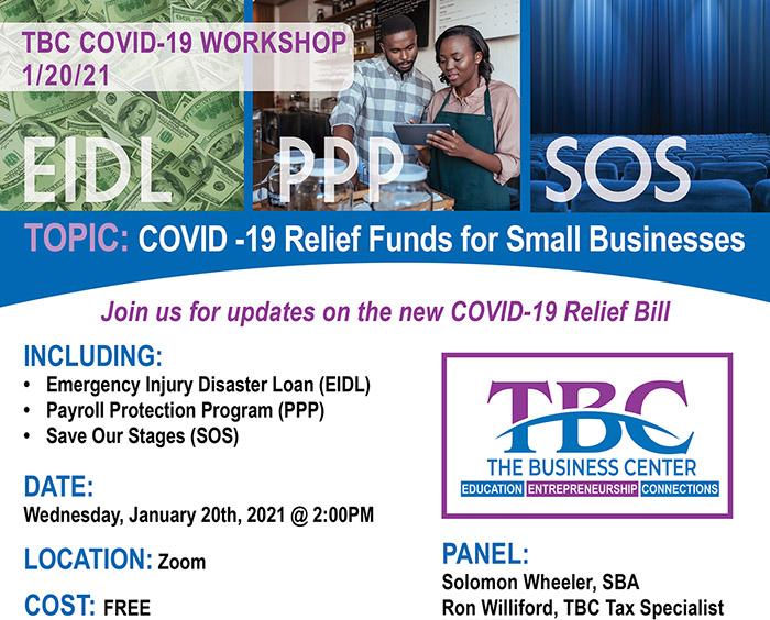 TBC Covid Relief Webinar info